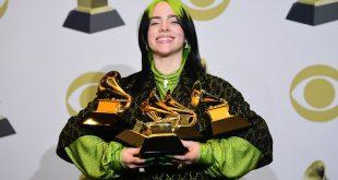 Billie Eilish la gran triunfadora de los Grammy