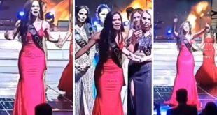 Miss Colombia denuncia fraude en pleno concurso de belleza