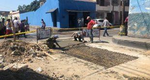 Culminan trabajos de reparación de la calle Ayacucho