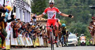 Colombiano Restrepo conquistó la quinta etapa de la Vuelta al Táchira