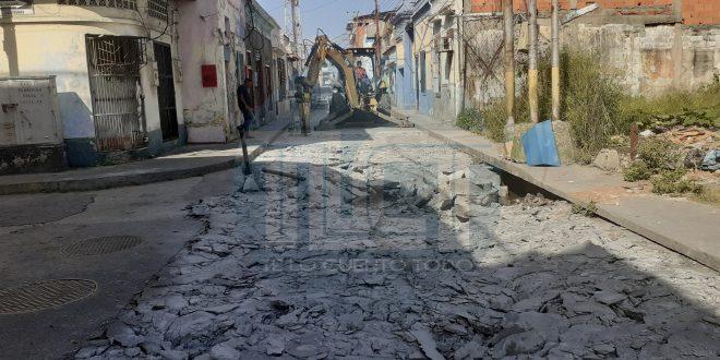 Comenzaron trabajos de reparación de la calle Miranda