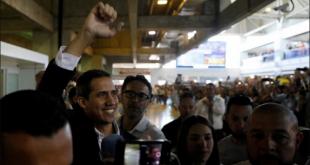 Guaidó de nuevo en Venezuela
