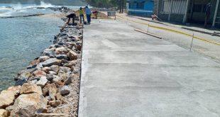 """Concluyó reparación de vialidad en Gañango """"pero ahora hay que esperar que fragüe el concreto"""""""