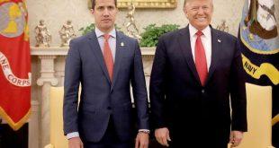 Guaidó y Trump juntos en la Casa