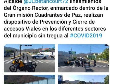 Alcaldía de Puerto Cabello cerró vías de accesos internas