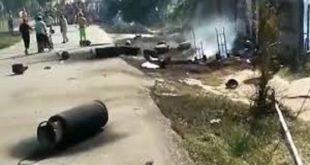 niños resultaron con quemaduras al explotar bombona de gas