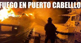 Investigan causas que provocó Incendio en embarcaciones en la Marina de Puerto Cabello